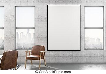 big blank banner in loft room