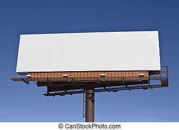 Big blank billboard in bright desert sunlight.