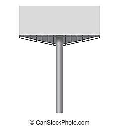 Big blank white billboard mockup, realistic style