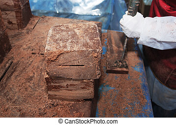 big blocks of chocolate