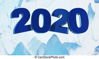 Big Blue 2020 Design inside an Iced Cave frosting - Big Blue...