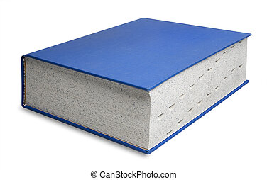 Big blue book, isolated