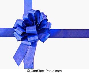 Big blue bow - big blue bow and ribbon