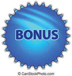 "Big blue button labeled ""Bonus"""