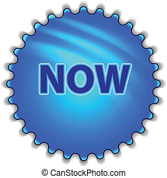 "Big blue button labeled ""NOW"""