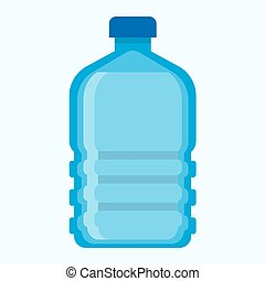 Big blue plastic bottle of fresh potable water. Cool...
