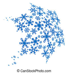 Big blue snowflake