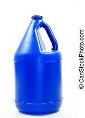 big blue water storage bottle