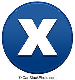 Big Blue X Button