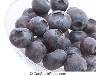 big blueberres  isolated on white background. macro