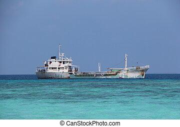 big boat. Maldives