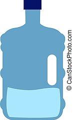 Big bottle, illustration, vector on white background.