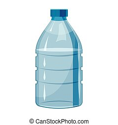 Big bottle of water icon, cartoon style