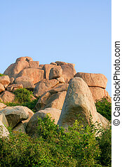 Big boulders in hampi india