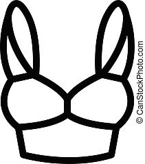 Big bra icon, outline style