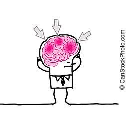 big brain man & headache