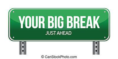 Big Break Green Road Sign