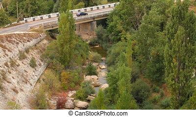 Big bridge across the river