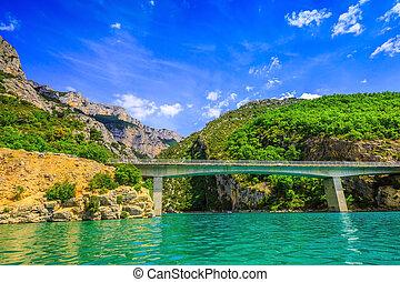 Big bridge across the river Verdon