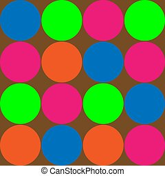 Big Bright Polka Dots - Illustration of brightly colored...