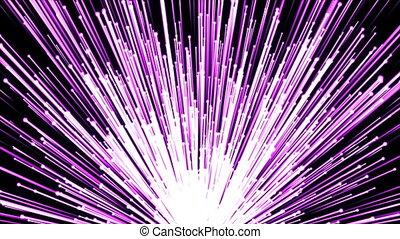 Big bright stream of particles