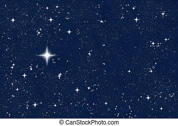 wishing star - big bright wishing star in the night sky