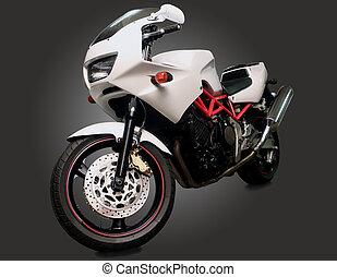 motorcycle on dark background