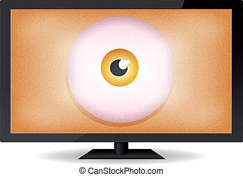 Big Brother Eye - Illustration of a cartoon big brother eye...