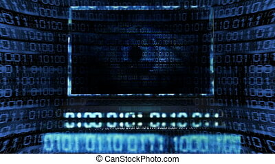 Big Brother Is Watching You - Eye watching you in a Laptop...