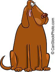 big brown dog cartoon illustration - Cartoon Illustration of...