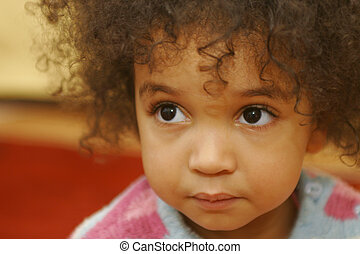 Big Brown Eyes Too - A beautiful mixed race girl with big...