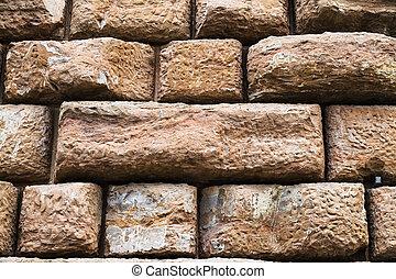 big brown stone blocks in wall of Palazzo Pitti