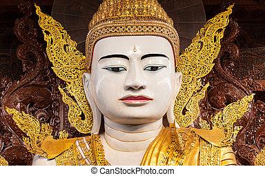 Big Buddha in Ngahtatkyi Pagoda Temple in Yangon, Myanmar (Burma