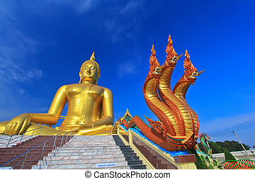 Big buddha statue at Wat muang, Thailand