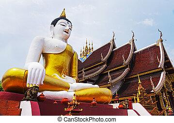 Big Buddha statue in the thai temple
