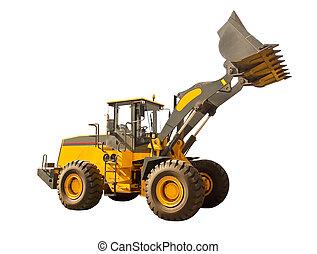 Big bulldozer - New bulldozer on a white background