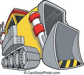 Bulldozer Vector Illustration