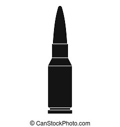 Big bullet icon, simple style