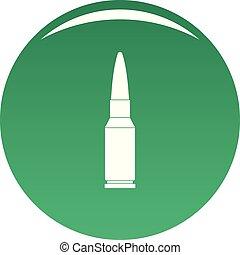 Big bullet icon vector green