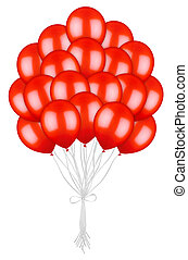 big bunch of colorful red balloons