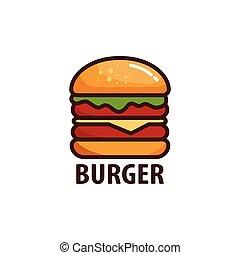big burger simple logo icon