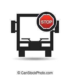 big bus stop road sign design