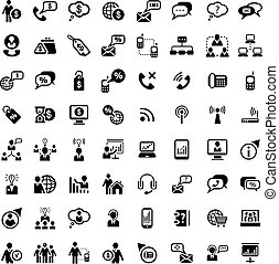 big business and financial icons set - 64 Vector Business...