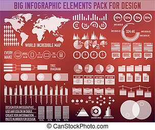 big business infographic elements set on blurred background. Colorful template for you design, web and mobile applications. Vector illustration concept