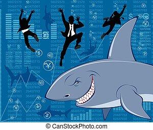 Big business shark