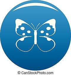 Big butterfly icon blue vector