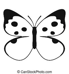 Big butterfly icon, simple style.