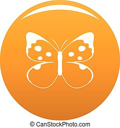 Big butterfly icon vector orange