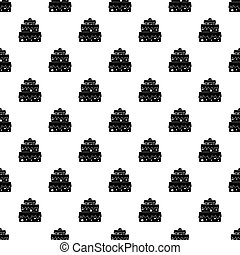 Big cake pattern vector