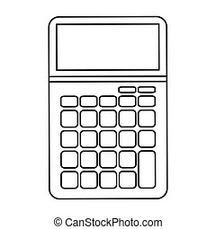 big calculator icon line design